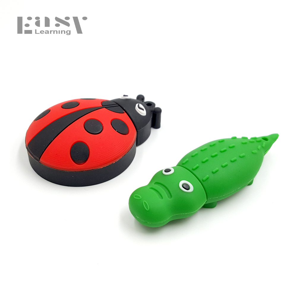 USB Flash Drive 32G Cute Ladybug USB Pen Drive 16GB Unicorn Pendrive 8GB USB Memoria stick beetle Flash Memory Stick Drive Gift цена и фото