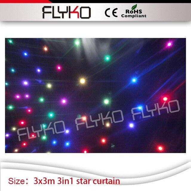 10ft door 10ft tv show dj ster gordijn volledige kleur led verlichting display twinkling led