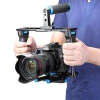 Neewer En Alliage D'aluminium Caméra Vidéo Cage Film Film Kit De Fabrication: Vidéo Cage + Poignée Grip + Tige pour Canon5D/700D/650D/Nikon/Sony DSLR