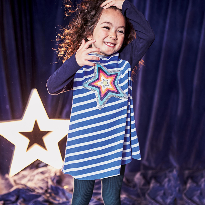 Girls Dress Vestidos 2017 Christmas Robe Fille Enfant Princess Dress Tunic Jersey Long Sleeve Girl Costumes for Kids Clothes стоимость