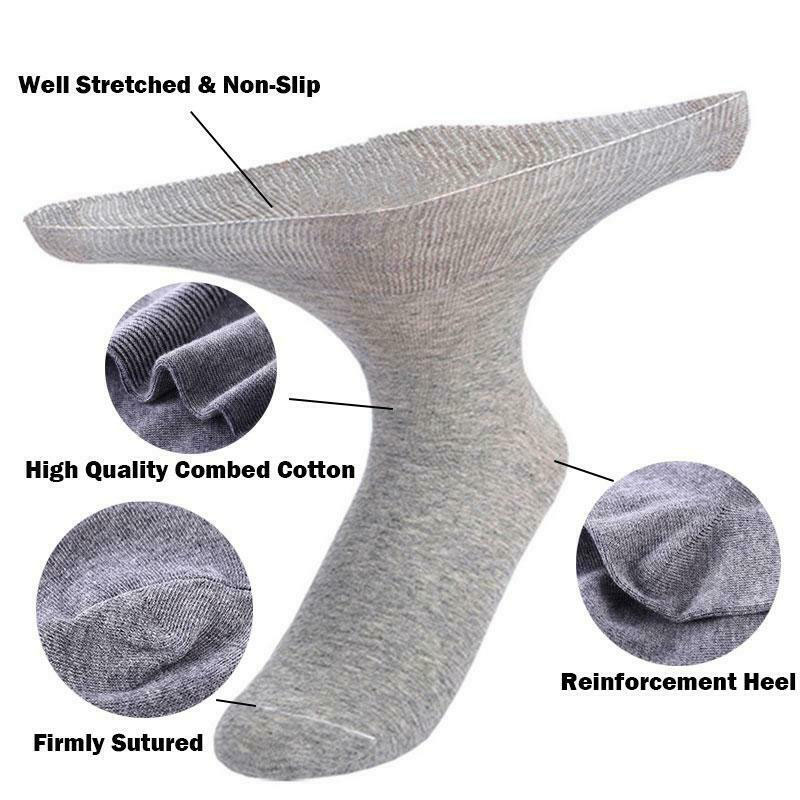 1 Pair Large Size Tube Socks Old Man Foot Discomfort Diabetic Feet Edema Swelling Women Men Socks