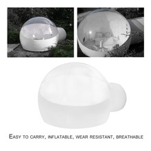 Innovative Stargaze Outdoor Single Tunnel Inflatable Bubble Camping Tent Transparent Half-n-half Look Great For Outdoor