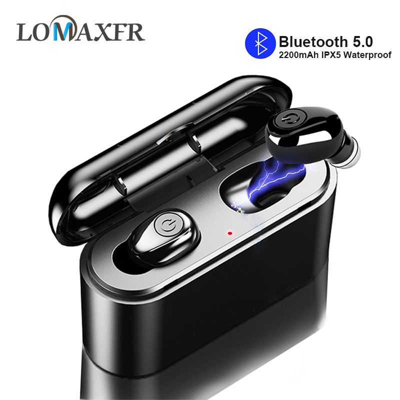 <font><b>X8</b></font> <font><b>TWS</b></font> True Wireless Earbuds <font><b>Bluetooth</b></font> <font><b>Earphones</b></font> 5D Stereo HiFi Mini <font><b>TWS</b></font> Sports Waterproof with 2200mAh Power bank for All Phone image