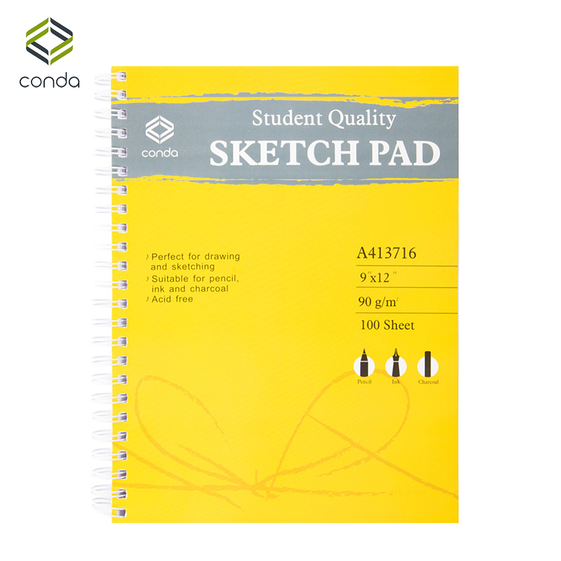 Conda 9x12 Spiral Sketch Pad for Drawing Painting Artist Sketchbook For Drawing Colored Pencil Book Manga Supplies kicute 1pc art thick blank paper sketchbook drawing book for drawing painting sketch scrawl student stationery pattern random