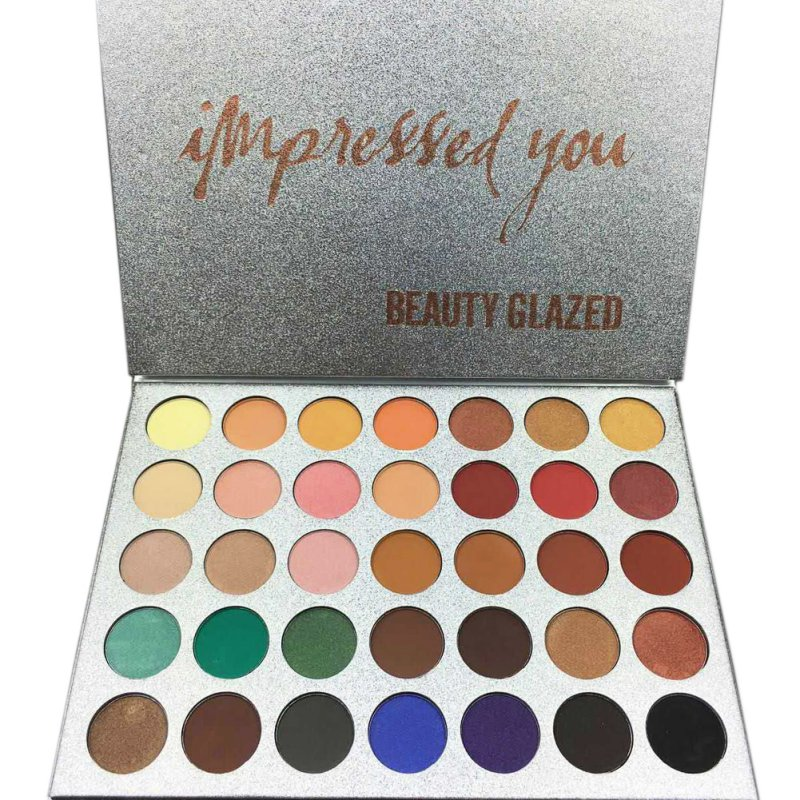 BEAUTY GLAZED 35 Colors Face Makeup Palette Eyeshadow Palette Shades Shimmer Matte Eye Shadow 1pcs Dropshipping