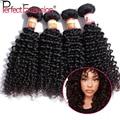 Бразильский Kinky Вьющиеся Волосы Девственницы 4 шт. Много Странный Вьющиеся Переплетения человеческих Волос 100% Человеческих Волос Weave Natural Black 100 г Линять бесплатно