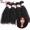 Brazilian Kinky Curly Virgin Hair 4pcs Lot Kinky Curly Weave Human Hair 100% Human Hair Weave Natural Black 100g Shedding Free