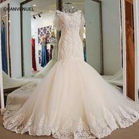 LS01773 новые продукты традиционный стиль дизайн бренда элегантный кружевной русалка свадебное платье корсет назад короткий рукав принцесса