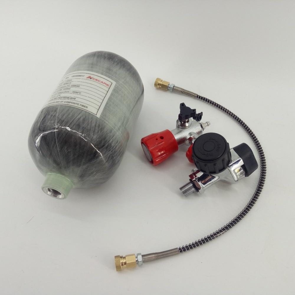 AC520211 2L Mini Paintball/Scuba Air Tank 4500psi High Pressure Pcp Valve/Air Pressure Gauge For Pcp Air Rifle/Airgun/Condor