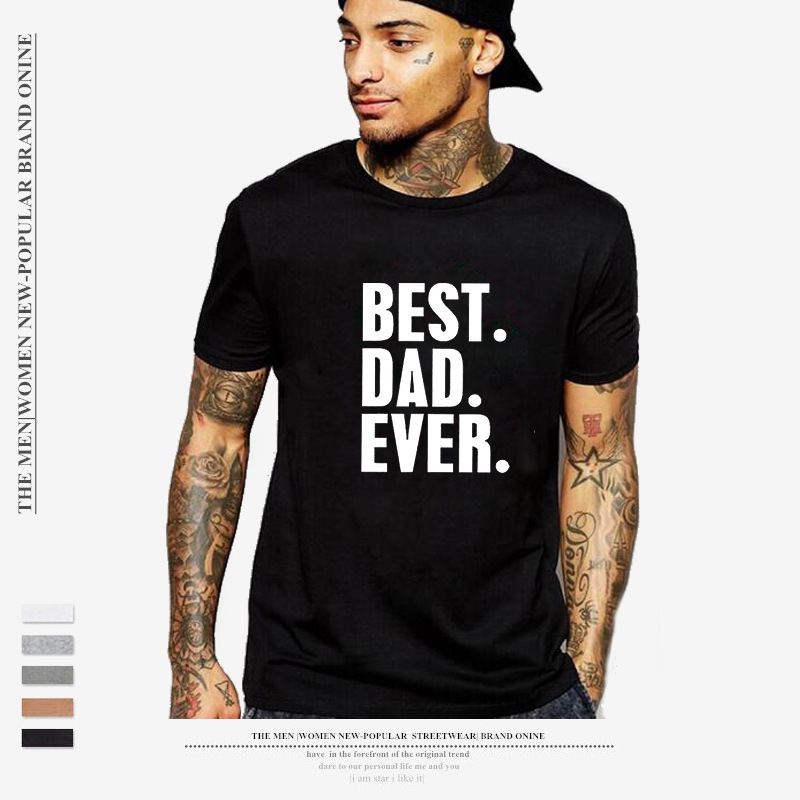 Letter printing round collar short-sleeved men's T-shirt best popular ratio in Europe and America image