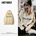Apricot Skate Fashion Hood Men HEYBIG street Hip hop Sweatshirts CN size Pullovers sandcastle kings Letters Tracksuits
