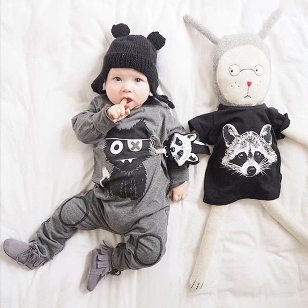 2017 Wolf Baby Clothes Newborn Unisex Baby Rompers Long Sleeve Cartoon Infant Kids Jumpsuit Summer Girl Boy Clothing newborn baby rompers baby clothing 100% cotton infant jumpsuit ropa bebe long sleeve girl boys rompers costumes baby romper