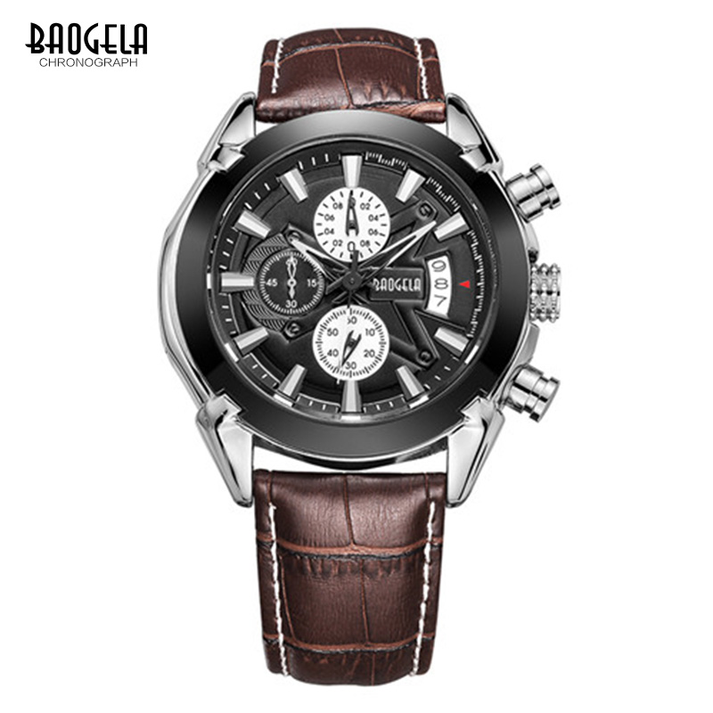 BAOGELA Men Chronograph Casual Watches Waterproof Luxury Brand Military Quartz Watches Relogio masculino Clock male Wristwatch