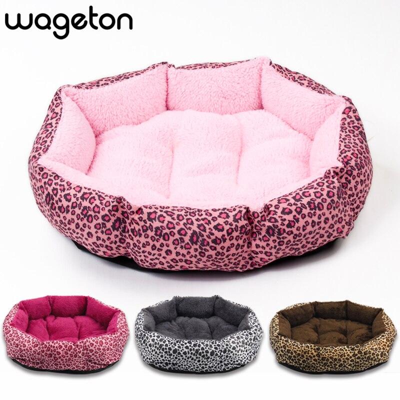 ¡Venta caliente! ¡Nuevo! Cama de perro y gato con estampado de leopardo colorido rosa, Marrón amarillento, rojo púrpura, marrón, gris, amarillo Talla M, L