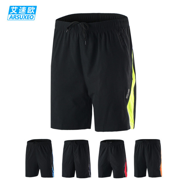 5 Colors Arsuxeo Summer Men's Sports Shorts  Breathable Quick Dry Fitness Gym Crossfit Cycling Jogging Training Running Shorts