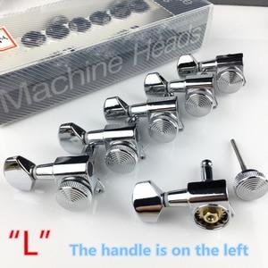 Image 5 - Sintonizadores de bloqueio de violão, cromado, novo afinador de cabeças para máquina de guitarra elétrica, JN 07SP trava de prata, pegos de ajuste (com embalagem)