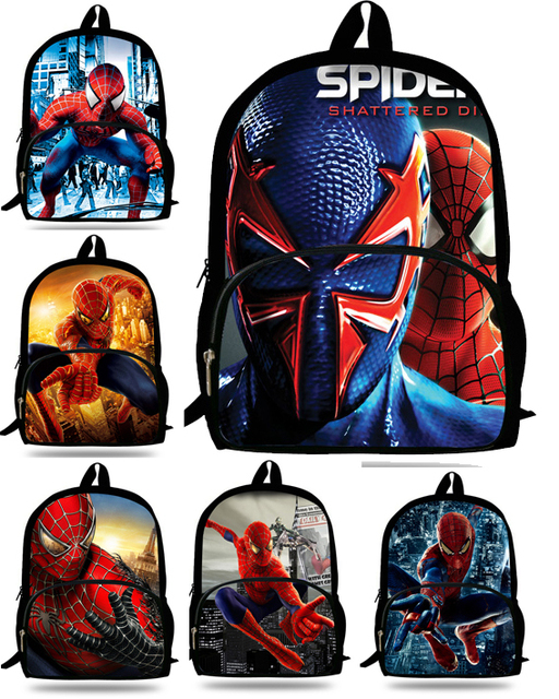 16inch Spiderman Backpack kids school bags for boys Spiderman bag ...