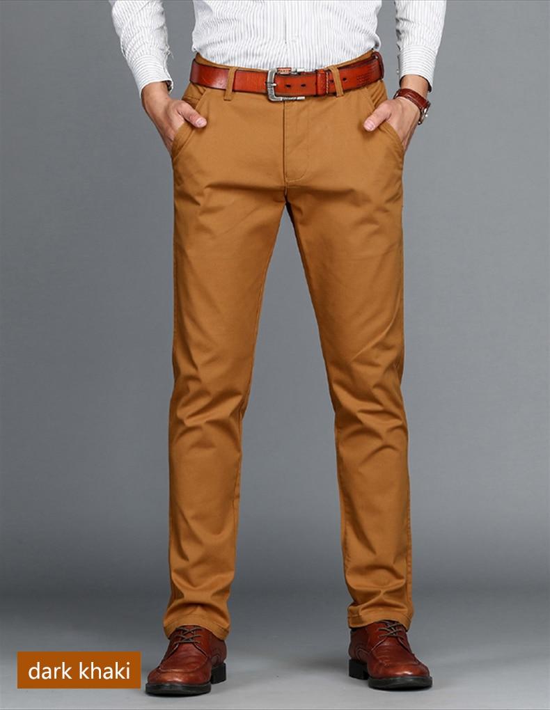 HTB12z4RdGSWBuNjSsrbq6y0mVXaL VOMINT Mens Pants High Quality Cotton Casual Pants Stretch male trousers man long Straight 4 color Plus size pant suit 42 44 46