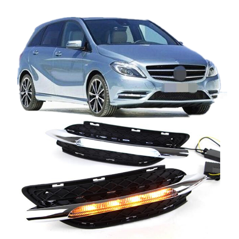 car styling LED Daytime Running Light auto fog lamp for Mercedes-Benz B200 W246 B180 2011-2013 day light led drl akd car styling for mercedes benz c class c200k led star light drl front grille led logo hollow emblem daytime running light