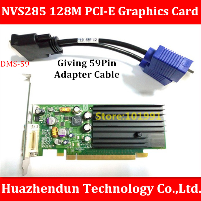 High Quality  NVS285 128M PCI-E Graphics  Card  Giving  DMS-59Pin to Dual VGA  Adapter  Cable   Support  Dual  Screen Display франц кафка экзамен