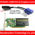 High Quality  NVS285 128M PCI-E Graphics  Card  Giving  DMS-59Pin to Dual VGA  Adapter  Cable   Support  Dual  Screen Display