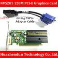 NVS285 128 M PCI-E Placa Gráfica de alta Qualidade Dando DMS-59Pin para Dual VGA Cabo Adaptador Suporte Dual Screen Display