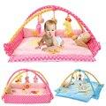 Alfombrillas para bebés plegables suaves rosadas/azules, alfombrillas de juego para recién nacidos, Tapete para gatear, Tapete para gimnasio, almohadilla de escalada para bebés, juguetes educativos para niños