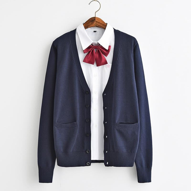 Japán iskola Jk egyenruhák kardigán felsőruházat pulóver 100% - Női ruházat