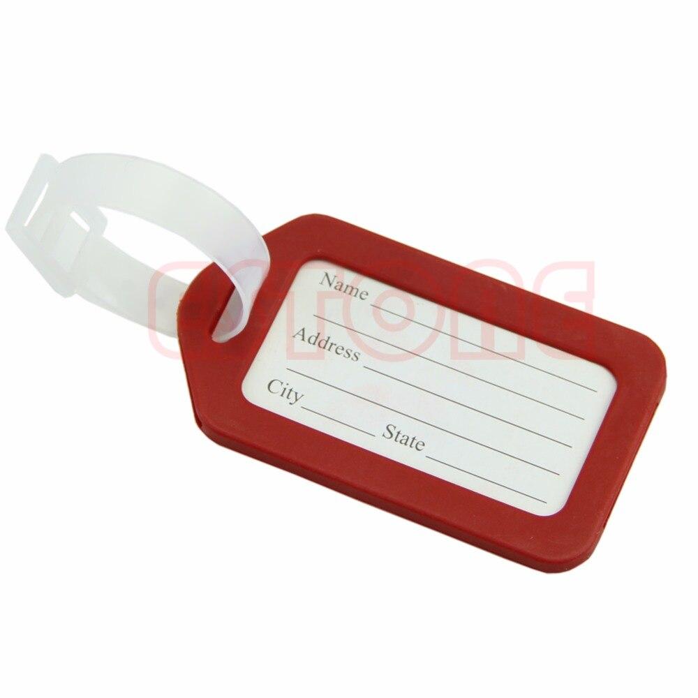 THINKTHENDO 2 Pcs Etiquettes de bagages Etiquettes Straps Striped Nom Adresse ID Valise Sac de Voyage ...