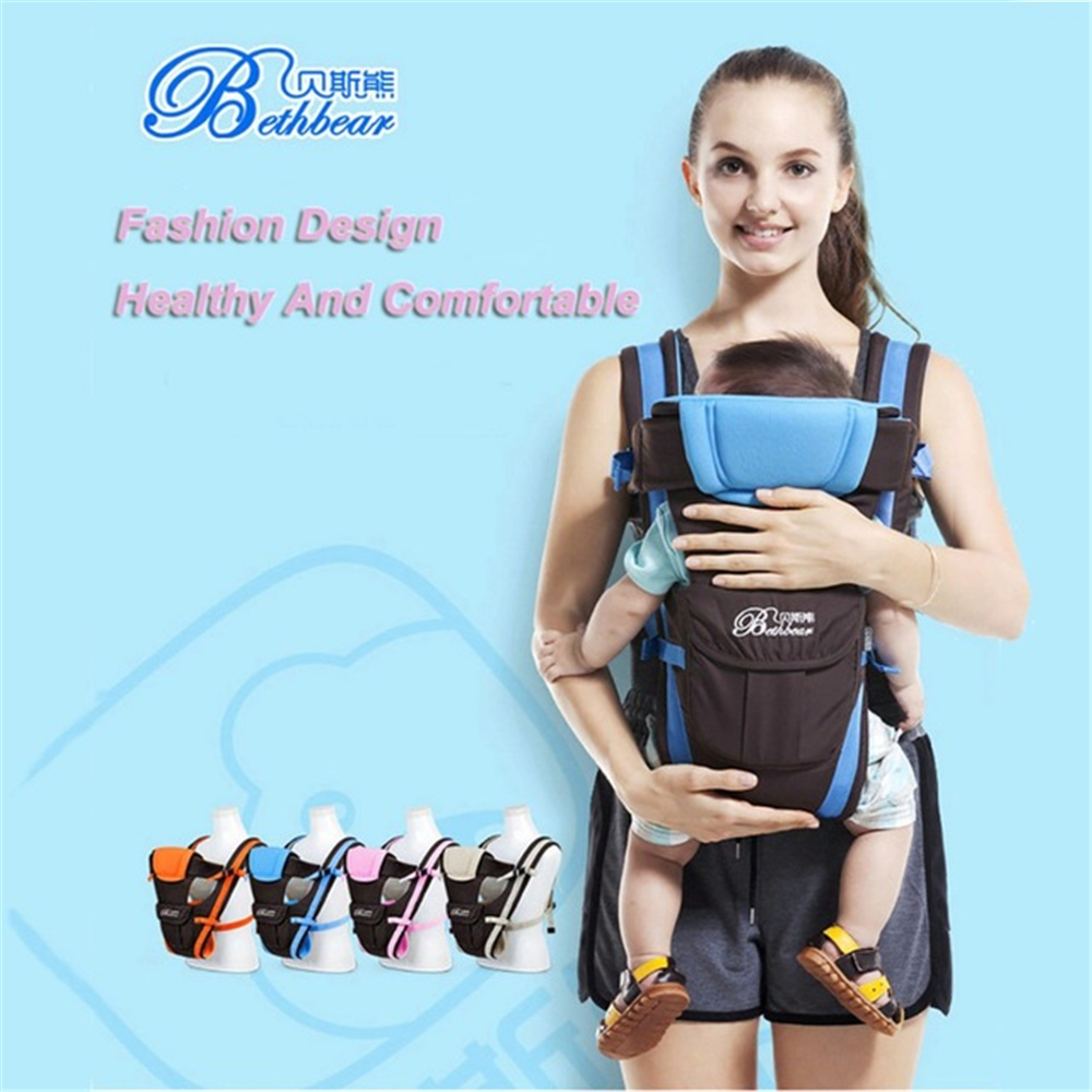 Beth Bear 0-30 Months Baby Carrier Kids Sling Front Facing Backpack Infant Multifunctional Pouch Wrap Baby Kangaroo New Carriers joyir men wallet genuine leather wallet luxury long clutch bags men leather walle purse business handy bag carteira masculina
