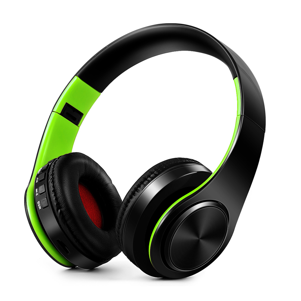 New Portable Wireless Headphones Bluetooth Earphone /Headset Foldable Stereo Audio Mp3 Adjustable Earphones With Mic For Music