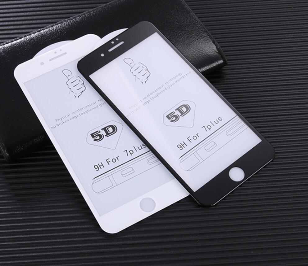 CAMDEMS 50pcs Hardness Anti Scratch 5D Screen Protector for iPhone XS MAX XR 6 6s 8