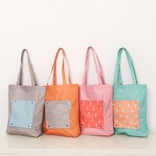 Fashion Reusable Folding Shopping Bag Travel Grocery Bags Hit Color Tote bag