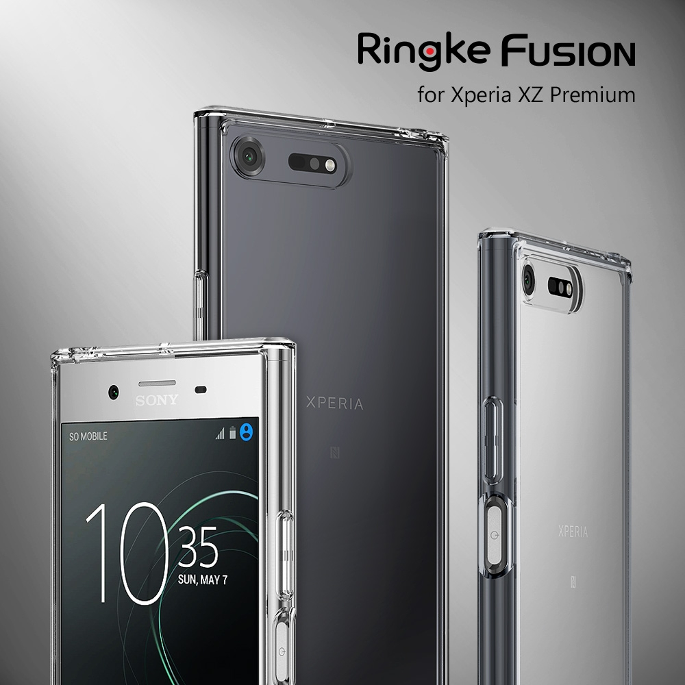 RINGKE FUSION Case for Xperia XZ Premium Crystal Hard Back Cover Drop Resistance Cases for Sony Xperia XZ Premium G8141 G8142