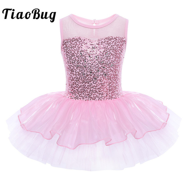 e39805f01 TiaoBug Kids Sequins Ballerina Fairy Prom Fancy Party Costumes ...