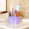 1Pc Colorful Plum Shape Desktop Plastic Organizer Box Nail Art Brush Tool Cosmetics Storage Case