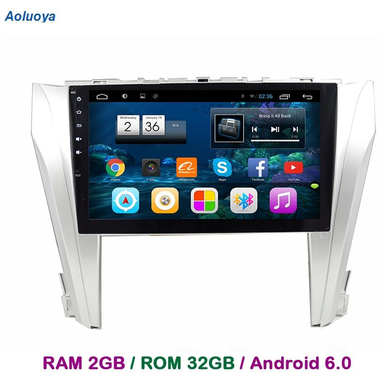Aoluoya RAM 2GB+32GB Android 6.0 Car DVD GPS Navigation For Toyota Camry 2015 2016 Audio Radio multimedia video mirror link DAB+