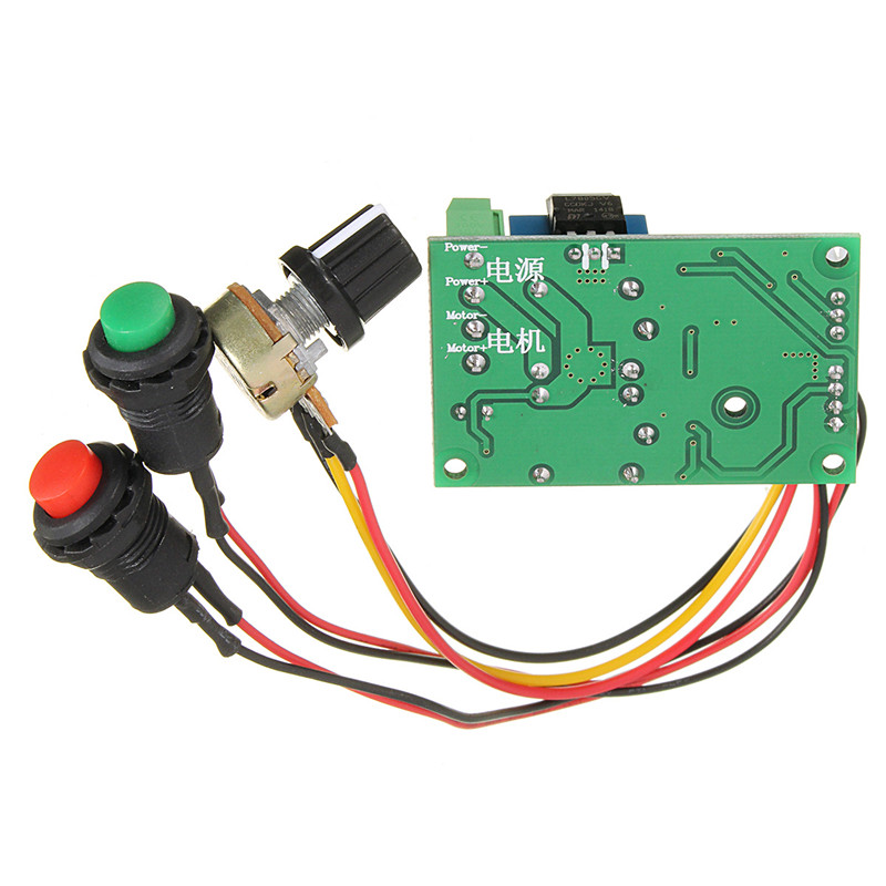 DC 6V-30V 12V 18V 24V 10A PWM DC Motor Speed Controller CW CCW Reversible Switch