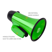 Mealivos Portable Speaker Megaphone Strap Grip Loudspeaker Record Play with Siren