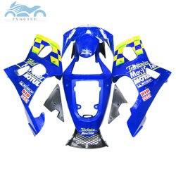 Indywidualne owiewki zestawy dla Suzuki 2000-2002 GSXR1000 K1 K2 road motocykl owiewki kit 00 01 02 GSXR 1000 niebieski movistar AT55