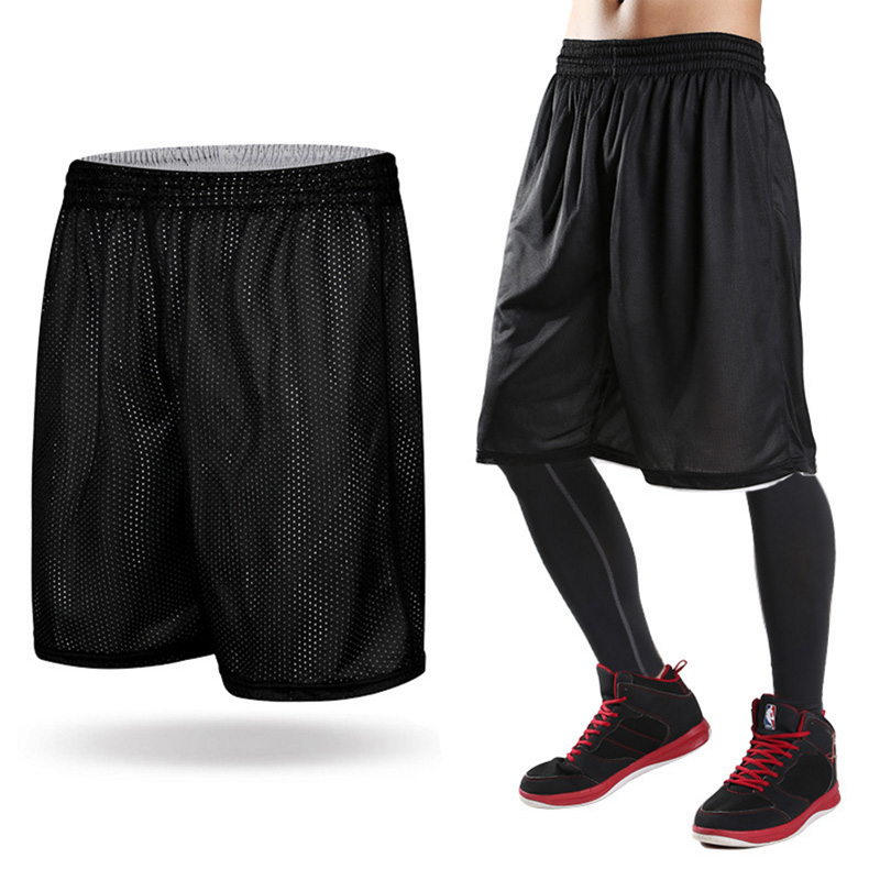 2018 New Hot Men Double-Sides Basketball Shorts Wearing Ultra-light Breathable Professional Sports Gym Boy Training Short Pants