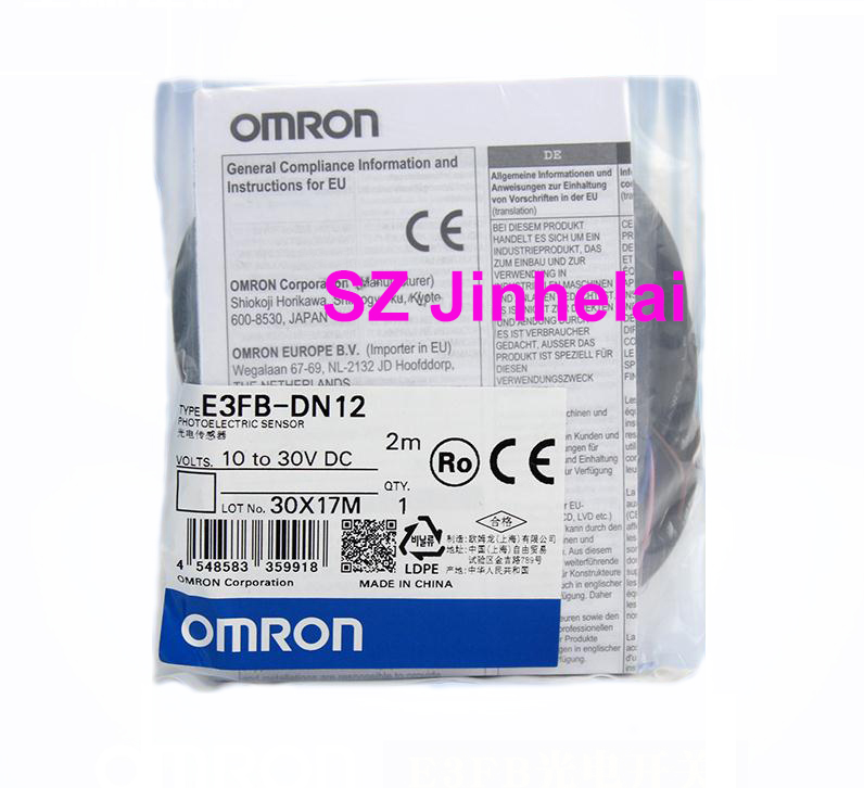 OMRON E3FB-DN12 Authentic original Photoelectric switch  2M   10-30VDCOMRON E3FB-DN12 Authentic original Photoelectric switch  2M   10-30VDC