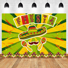 Mexico Fiesta Photography Backdrops Carnival Festival Photo Studio Props Great as Mexican Dress-up Seamless Background