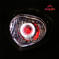 Headlight Assembly Angel Eye+Demon Eye HID Projector For 2004 2009 Yamaha FZ6 2005 2006 2007