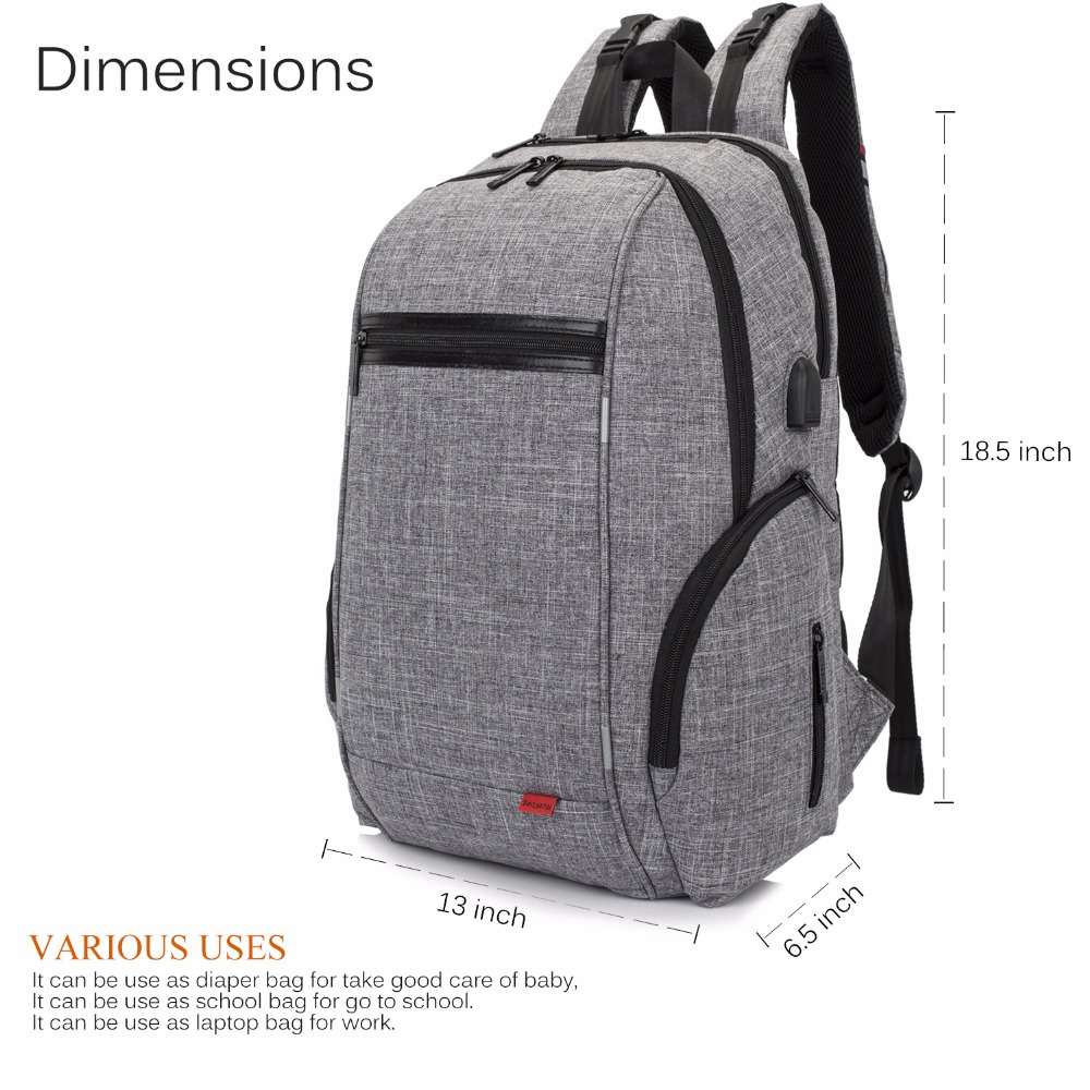 Coolbell Baby Diaper Backpack With Insulated Pockets - CEAGESP