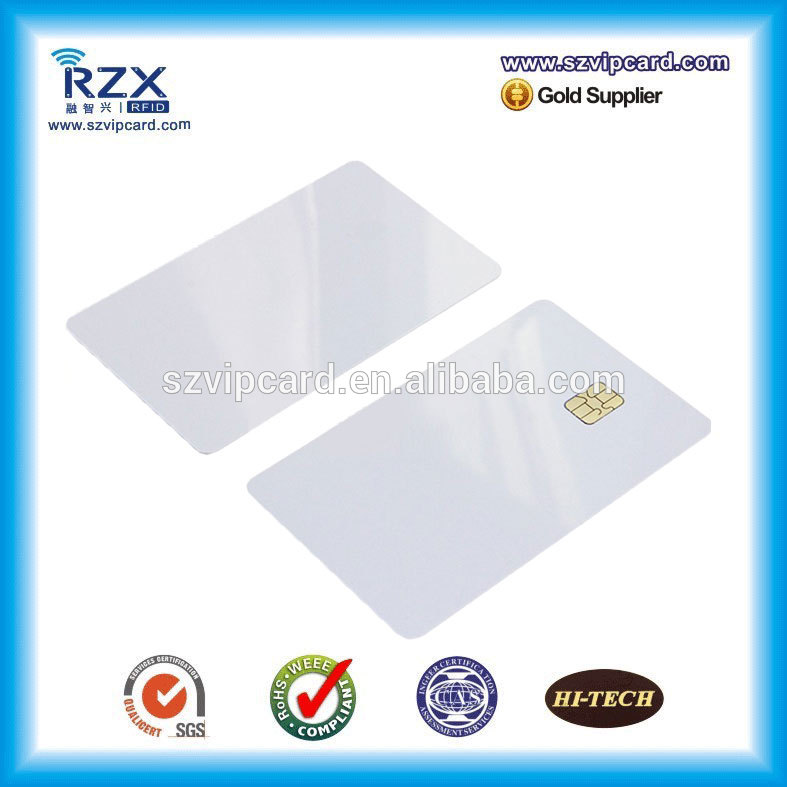 Free shipping 20PCS PVC inkjet blank card contact smart blank card with AT24C02 chip
