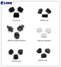 100 chiếc RJ11 chống bụi tai RJ45 SPF USB bụi/cắm đen trắng Miễn Phí Vận Chuyển BÚP ELINK