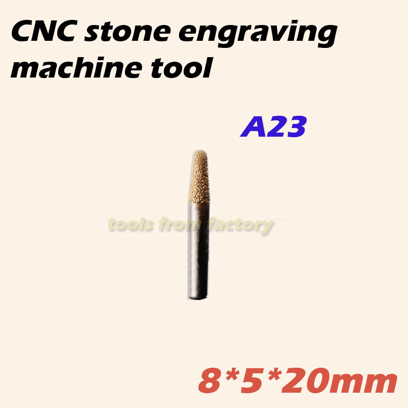 8*5*20mm cnc diamond stone carving tool router stone engraving machine cutter stone cutting bits 1pc 120 deg 8 20mm cnc router electroplated diamond stone carving tool stone engraving machine cutter stone cutting bits