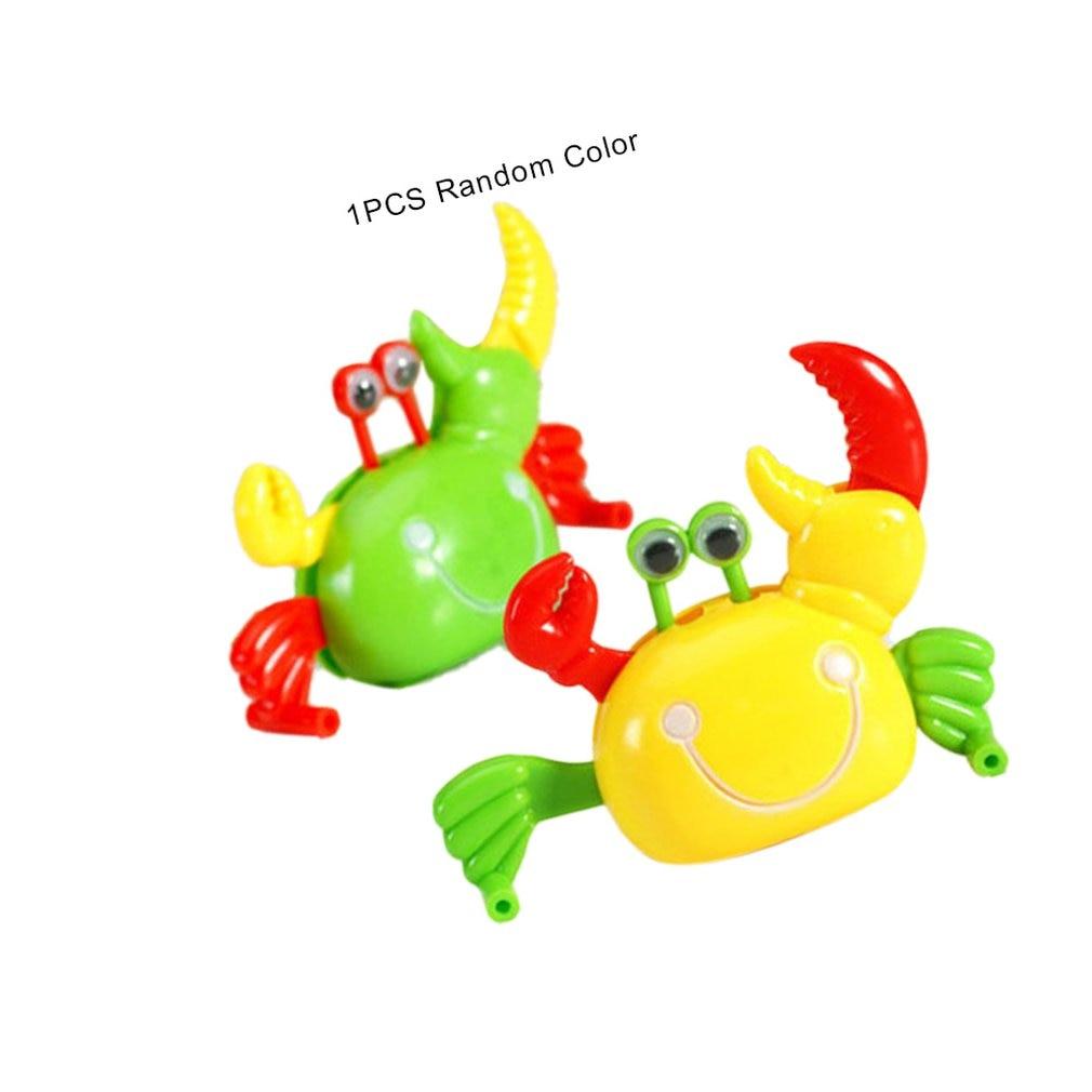 Bonito Wind-Up Brinquedo Caranguejo Andando Animais Collectible Dos Desenhos Animados Das Crianças Dos Miúdos Do Bebê Clockwork Brinquedos Para Presente Das Crianças