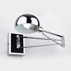 الحديثة وحدة إضاءة LED جداريّة مصابيح بسيطة السرير الجدار مصباح مع باهتة التبديل الكروم مرونة الجدار أضواء القراءة ضوء إضاءة داخلية